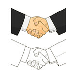 Male handshake