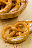 pretzels on kitchen table