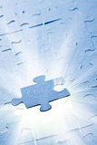 jigsaw puzzle with white light