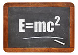 Einstein equation on blackboard