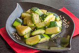 Fried courgette Japanese style