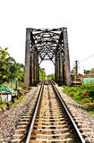Railway bridge at Bangkoknoi, Talingchan, Thailand. It is near T