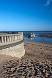 Promenade wall at Jubilee Beach, Southend-on-Sea, Essex, England