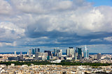 View of the modern business district of Paris - La Defense from