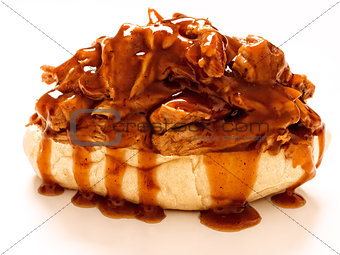 american barbecue pulled pork sandwich