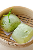 green tea Mantou