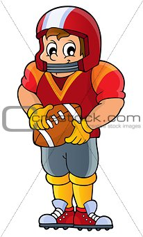 American football theme image 1