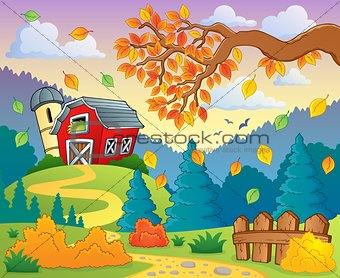 Autumn farm landscape 2