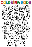 Coloring book alphabet theme 1