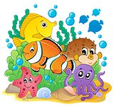 Coral fish theme image 1