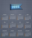 Stylish calendar for 2015 on linen texture