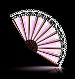 white-pink fan