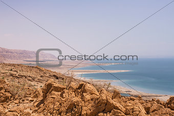 Beautiful coast of the Dead Sea .
