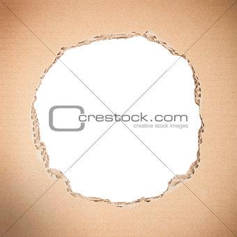 Circle shape breakthrough cardboard