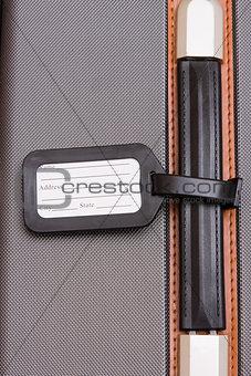 Black Luggage Tag On Baggage
