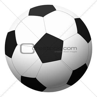 black-white football - vector illustration