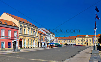 Town of Koprivnica street and architecture