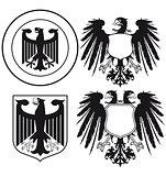 Eagle heraldic shields