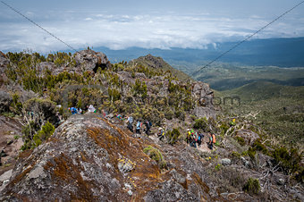 Ascending towards Shira Campsite, Kilimanjaro