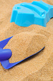 toy shovel and sand mould