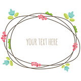 Floral summer frame. Vector illustration.