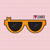 Summer background. Sunglasses. Vector.