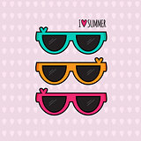 Summer background. Sunglasses. Vector illustration.