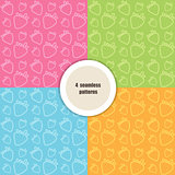 Set of summer seamless patterns.