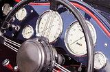 vintage dashboard dials