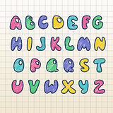 Vector set of english letters