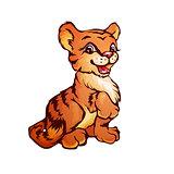 Vector illustration of tiger in cartoon style