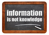 information is not knowledge quote