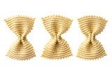 Uncooked farfalle pasta