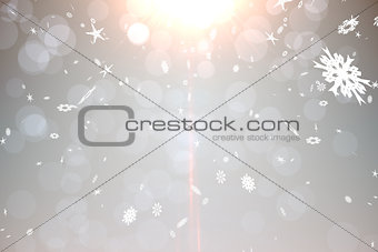 Grey design with snowflakes
