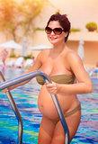 Active pregnant woman