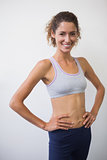 Fit woman smiling at camera