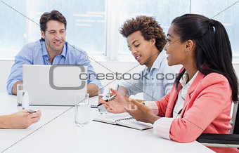 Casual business team having a meeting