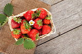 Fresh strawberry in basket