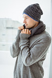 Handsome man in warm clothing