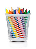 Various colour markers in holder
