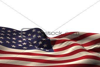 Digitally generated american flag rippling