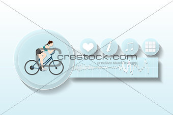 Fitness and health app menu