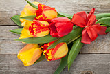 Fresh tulips bouquet