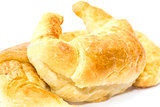 Fresh croissant isolated on white