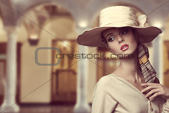 aristocratic girl with hat