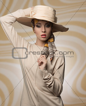 woman with aristocratic fashion style