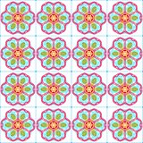 Seamless decorative pattern with flowers