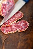 italian salame pressato pressed slicing