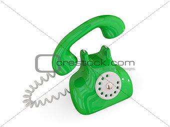 Cartoon retro telephone.