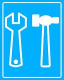 white tool icon